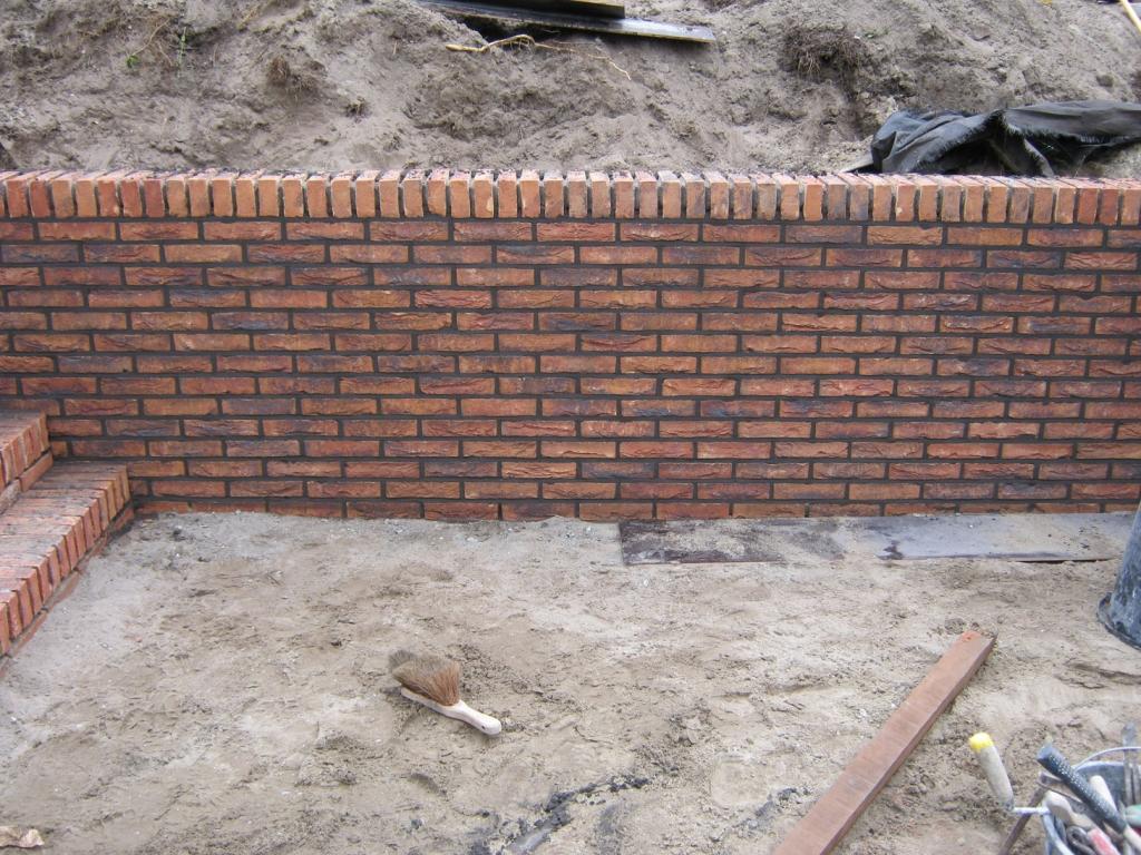 Metselwerk voor betonnen L-profielen